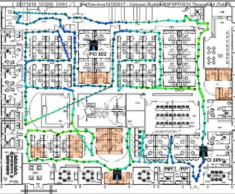 Indoor routing map